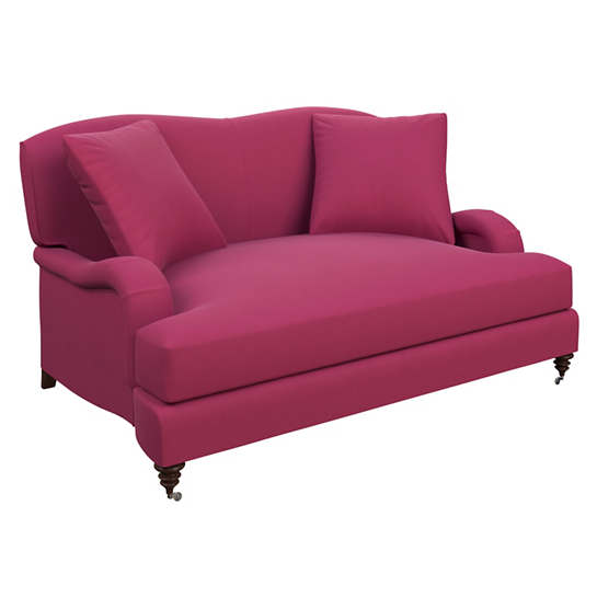 Velvesuede Magenta Litchfield Loveseat