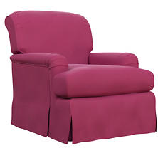 Velvesuede Magenta Longford Chair