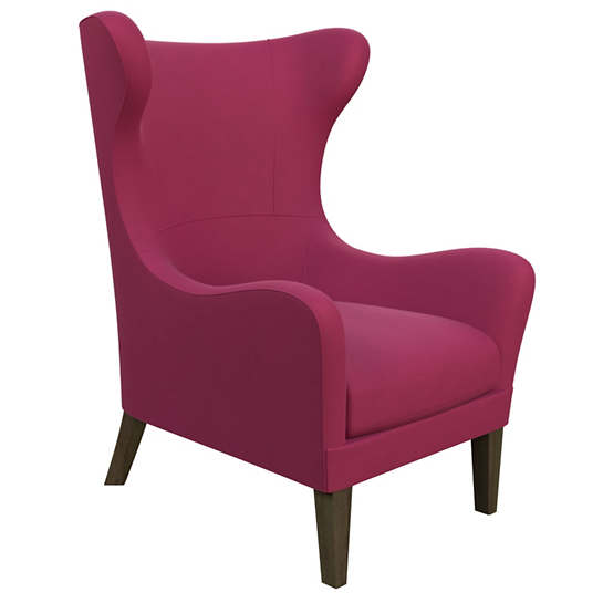 Velvesuede Magenta Mirage Smoke Chair