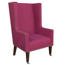 Velvesuede Magenta Neo-Wing Chair