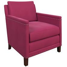 Velvesuede Magenta Ridgefield Chair
