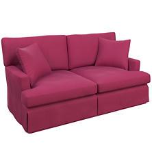 Velvesuede Magenta Saybrook 2 Seater Upholstered Sofa