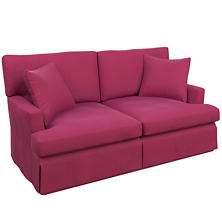 Velvesuede Magenta Saybrook 2 Seater Slipcovered Sofa