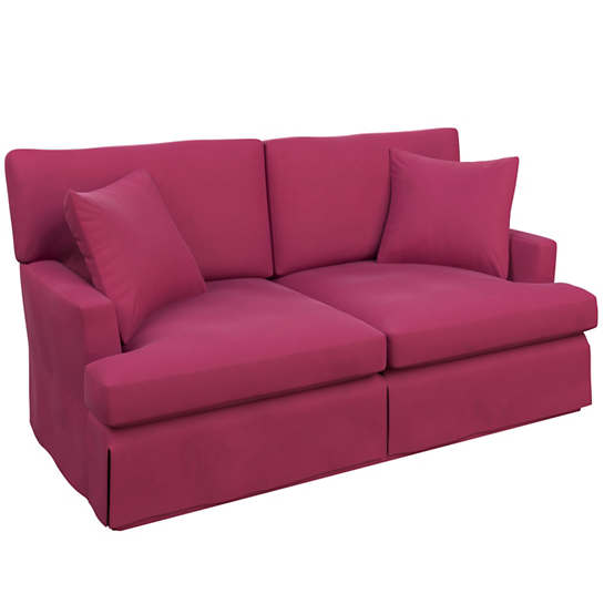 Velvesuede Magenta Saybrook 2 Seater Slipcovered Sofa