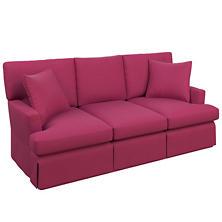 Velvesuede Magenta Saybrook 3 Seater Upholstered Sofa