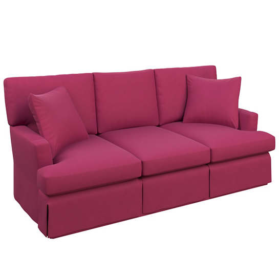 Velvesuede Magenta Saybrook 3 Seater Slipcovered Sofa