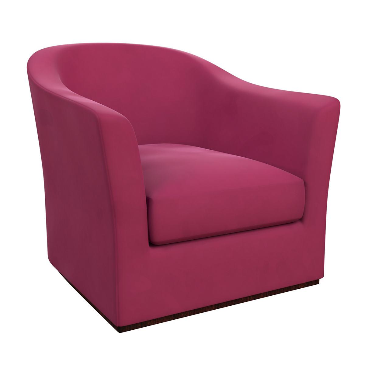 Velvesuede Magenta Thunderbird Chair