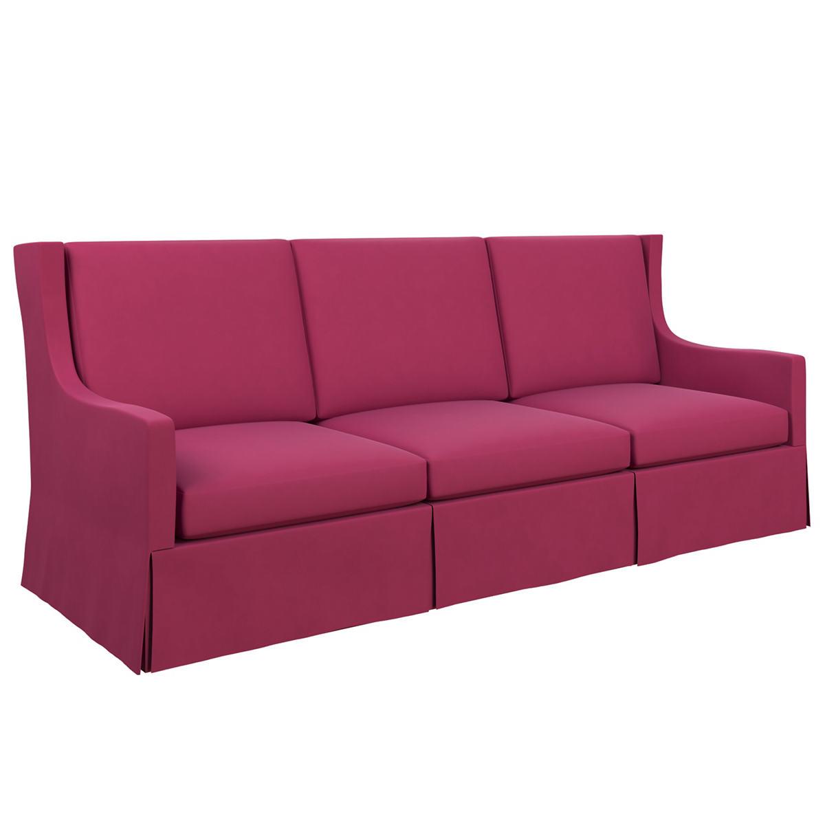 Velvesuede Magenta Toulouse Sofa