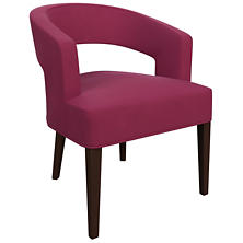Velvesuede Magenta Wright Chair