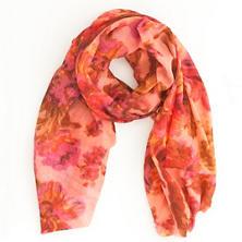 Velvet Flowers Pink Scarf