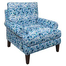 Villa Tile Blue Easton Chair