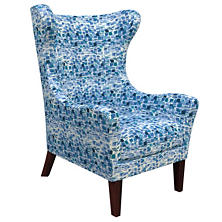 Villa Tile Blue Mirage Tobacco Chair