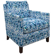 Villa Tile Blue Ridgefield Chair