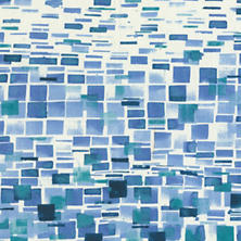Villa Tile Blue Fabric