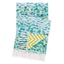 Villa Tile Linen Throw