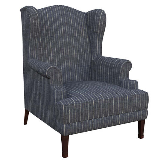 Vintage Stripe Indigo Lismore Chair