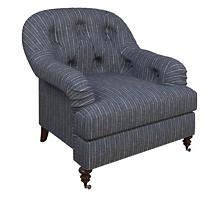 Vintage Stripe Indigo Norfolk Chair
