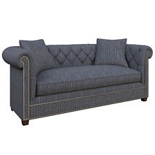 Vintage Stripe Indigo Richmond Sofa