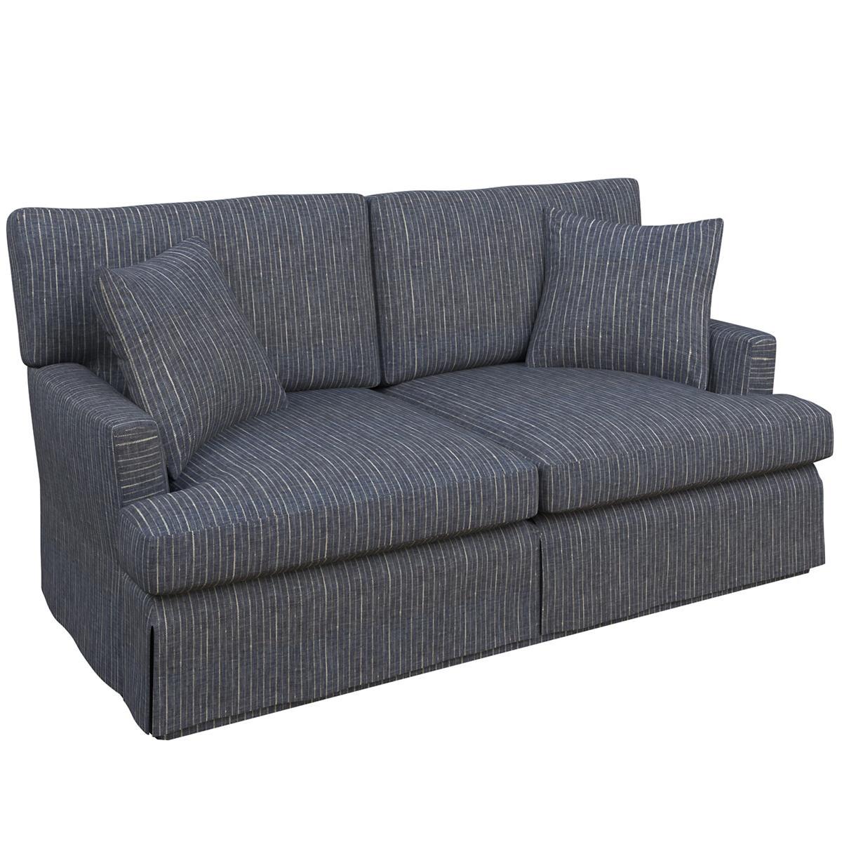 Vintage Stripe Indigo Saybrook 2 Seater Upholstered Sofa