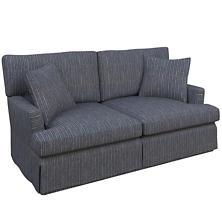 Vintage Stripe Indigo Saybrook 2 Seater Slipcovered Sofa