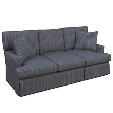 Vintage Stripe Indigo Saybrook 3 Seater Upholstered Sofa