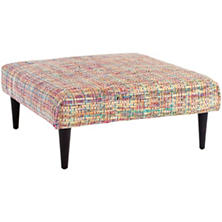 Vista Chindi Tapered Tobacco Leg Rug Ottoman