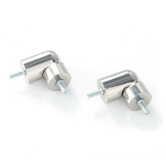 Bay Window Polished Nickel Connector