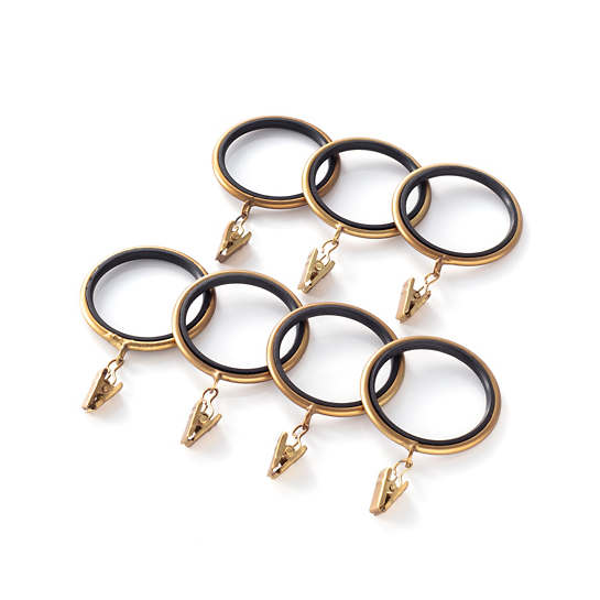 Curtain Clip Satin Brass Ring