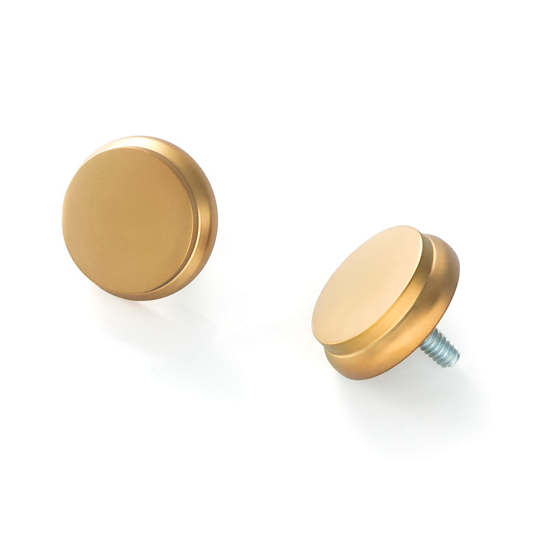 End Cap Satin Brass Finials