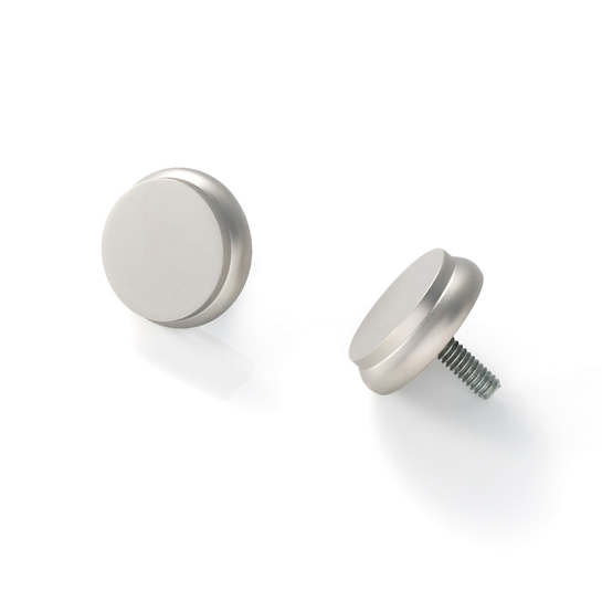 End Cap Satin Nickel Finials