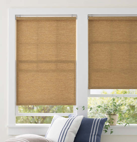Ridge Cordless Roller Wicker Shade