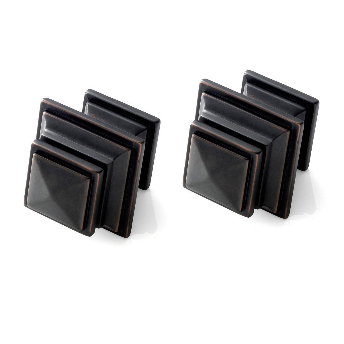 Square Oil Rubbed Bronze Finials/Set of 2