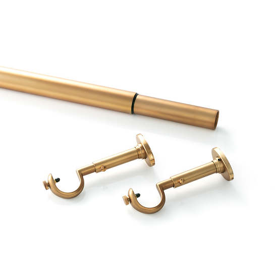 Stockbridge Satin Brass Curtain Rod