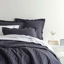 Washed Linen Blue Quilt