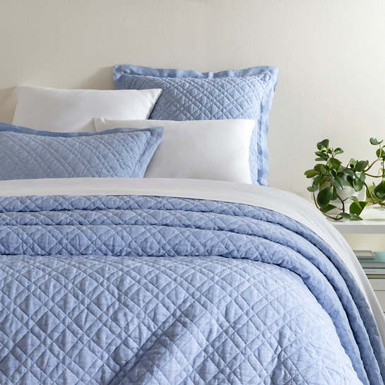 Washed Linen French Blue Quilt