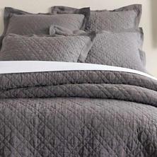 Washed Linen Grey Quilt Sham
