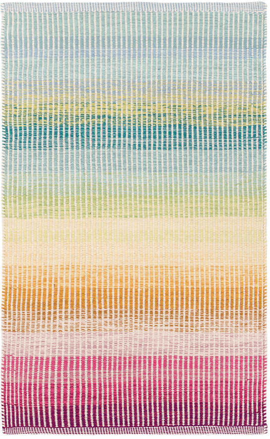 Watercolor Horizon Woven Cotton Rug