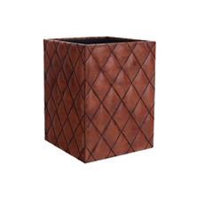 Watson Leather Cognac Wastebasket