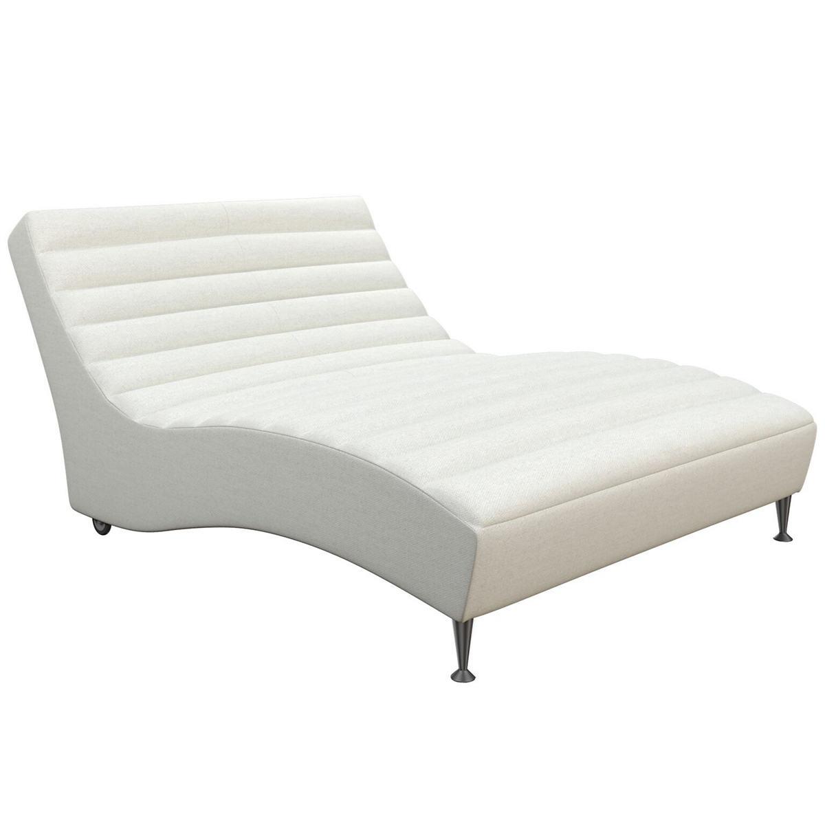 Sunbrella Linen White Canvas Wave Chaise