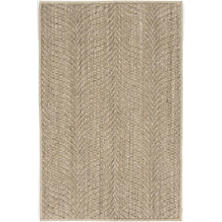 Wave Natural Woven Sisal Custom Rug With Pad