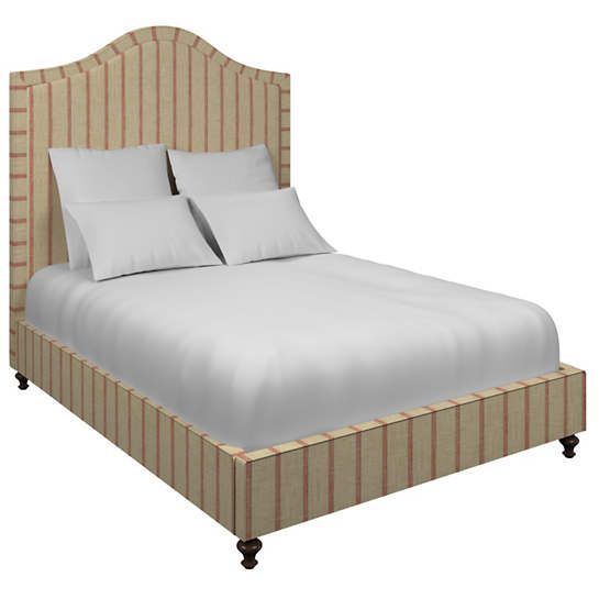 Glendale Stripe Brick/Brown Westport Bed
