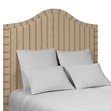 Glendale Stripe Brick/Brown Westport Headboard