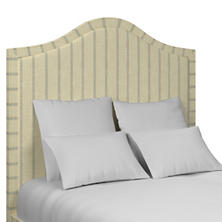 Glendale Stripe Light Blue/Natural Westport Headboard