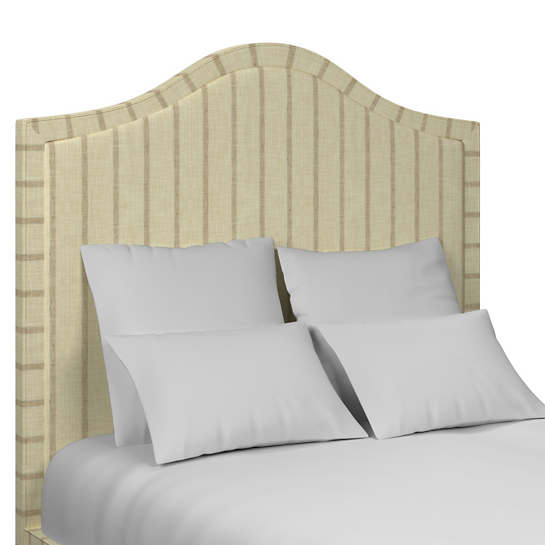 Glendale Stripe Natural/Grey Westport Headboard
