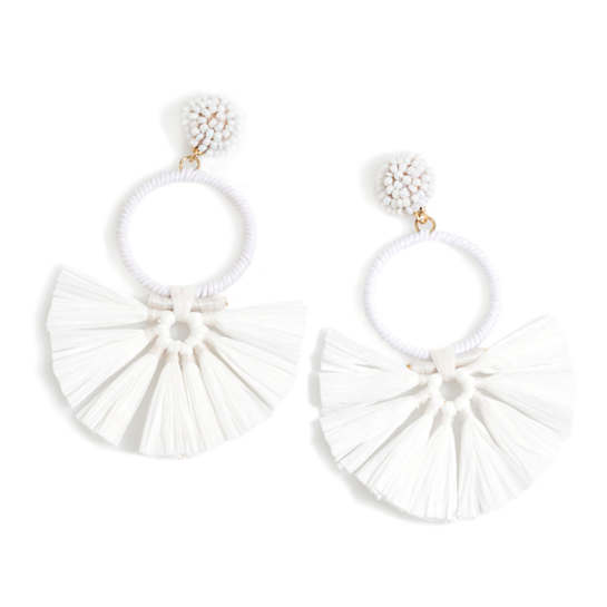 White Carmen Earrings