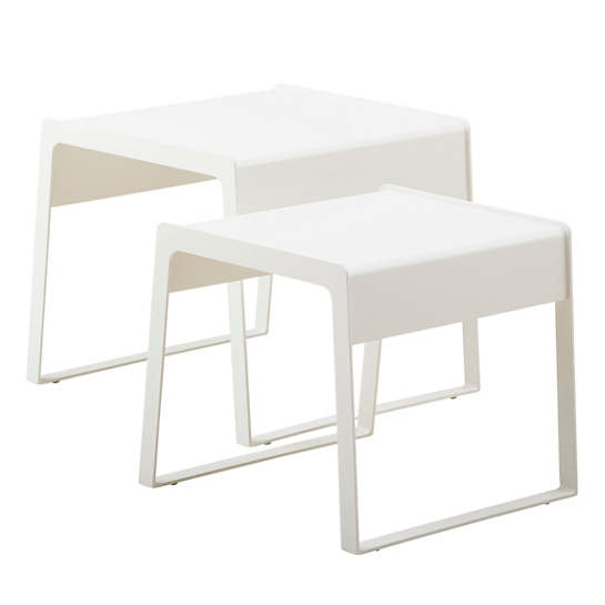 White Chill-Out Side Table/Set Of 2