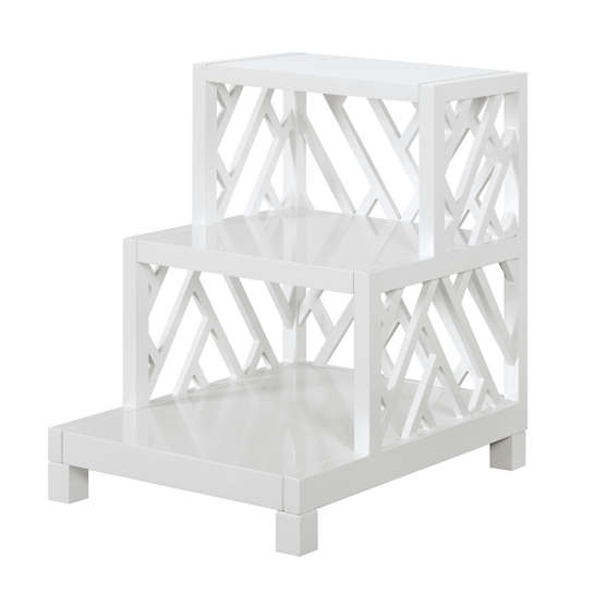 White Chipper Side Table