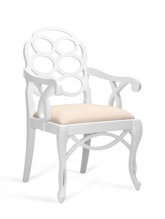 White Frankie Arm Chair
