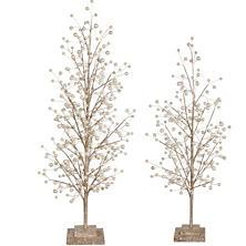 White Glittered Tree Large