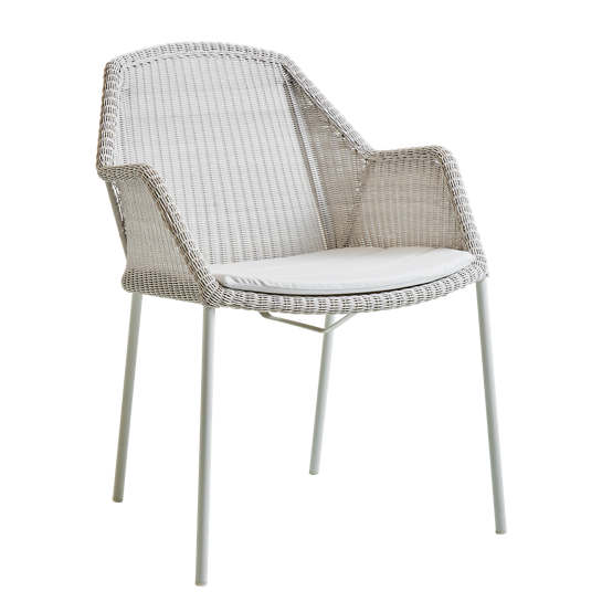 White/Grey Breeze Stackable Dining Chair